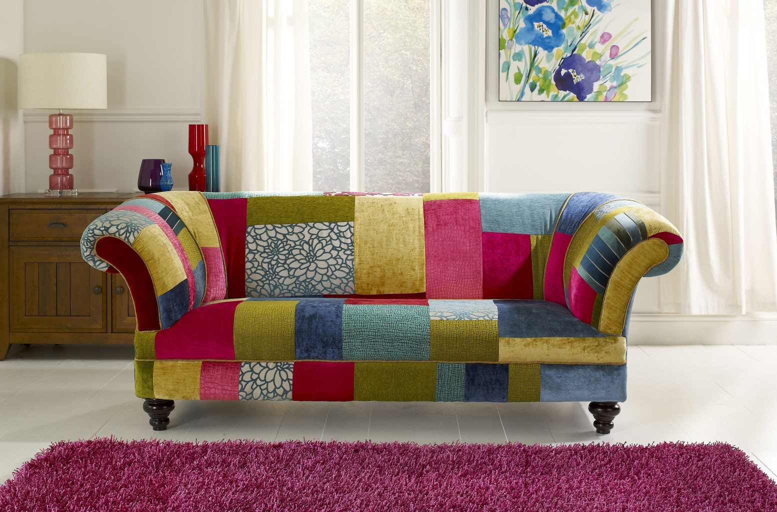 Patchwork sofa english chesterfields - Modelos de sofas ...