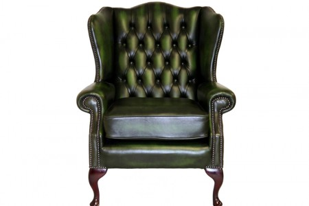 classic  chesterfield wing back chair