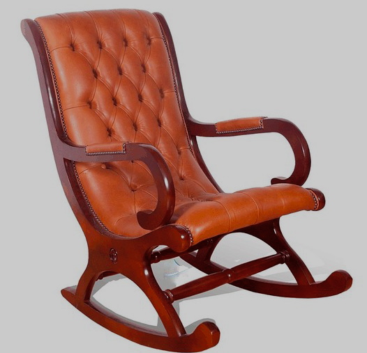 chesterfield rocker old saddle